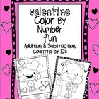 Valentine Color By Number Additon and Subtraction