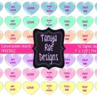 Valentine Conversation Hearts Clip Art {FREEBIE}