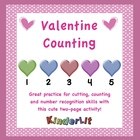 Valentine Counting for Pre-K