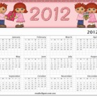 Valentine Couple 2012 Yearly Calender-Redhead