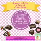 "Valentine Craftivity---""Speech is Like a Box of Chocolates!"""