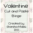 Valentine Cut and Paste Bingo