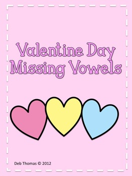 Valentine Day Missing Vowels