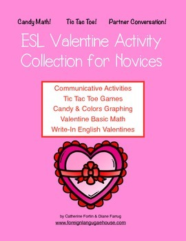 Valentine ESL/EFL Bundle:  Worksheets and Activities