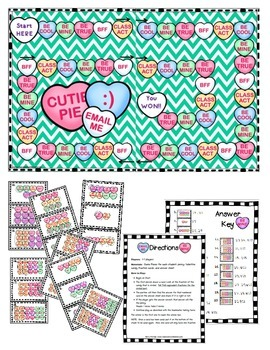 Valentine Equivalent Fraction Game