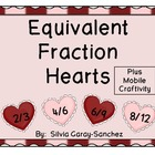 Valentine Equivalent Fraction Hearts