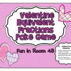 Valentine Equivalent Fractions Poke Game