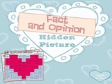 Valentine Fact and Opinion: Hidden Heart Picture