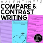 Valentine / Heart Themed Compare & Contrast Writing Kit {D