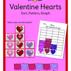 Valentine Hearts Sort, Pattern, Graph