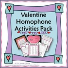 Valentine Homophone Pack: Writing Activity, Project, Poste