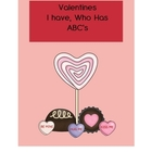 Valentine I have, Who has ABC&#039;s Freebie