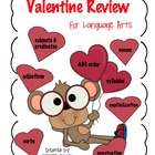 Valentine Language Arts Review packet