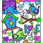 Valentine Love Birds {Creative Clips Digital Clipart}