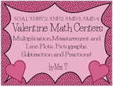 Valentine Math Centers~ CCSS Aligned