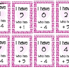"Valentine Math,  ""I Have, Who Has?"" Kindergarten, 1st"