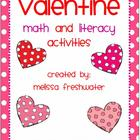 Valentine Math & Literacy Activities