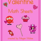 Valentine Math Sheets