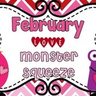 "Valentine Math Station ""Love Monster Number Squeeze!"" 0-50"