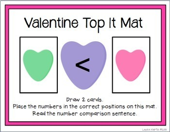 Valentine Math Tubs-First Grade Common Core Activities