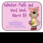 Valentine Math and Word Work Game Kit