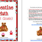 Valentine Math for 1st Grade (Fun February Download)