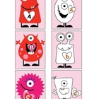 Valentine Monster Alphabet Match
