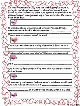 Valentine Mystery Creative Writing