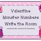 Valentine Number Hunt Write the Room