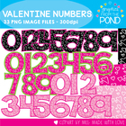 Valentine Numbers - FREE Clipart Graphics for Teaching