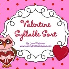 Valentine Owl Syllable Sort