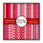 Valentine Paper Collection {12x12 Digital Papers for Comme