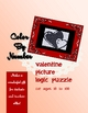 Valentine Picture Logic Puzzle: Color By Number