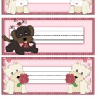 Valentine Puppy Desk Name Plate