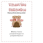 Valentine Scramble {Mixed Up Words Literacy Center}