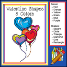 Valentine Shapes and Colors (February Download - Prek to 1
