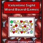 Valentine Sight Word Board Game - Easy