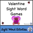 Valentine Sight Word Games by Diamond Mom