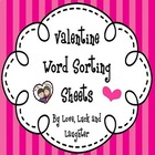 Valentine Sight Word Sort FREE