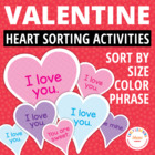 Valentine Sorting Hearts:  Early Math Activities for Presc