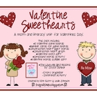 Valentine Sweethearts {a math & literacy unit for Valentin