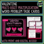 "Valentine Word Problems ""Bigger"" Multiplication"