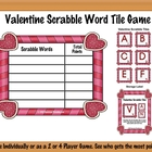 Valentine Word Scrabble Game