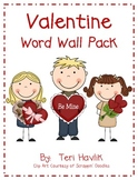 Valentine Word Wall Pack