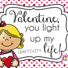 """Valentine, You Light Up My Life"" Writing Craftivity"