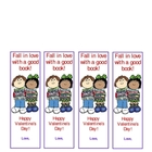 Valentine bookmarks for a student gift
