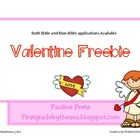 Valentine craft or card Freebie