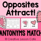 Valentine/February Antonyms Center~ Cards and Recording Sh