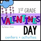 Valentines Activities for 1st grade with ELA & Math Common Core!