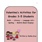 Valentine's Activities for Grades 3-5 Students:math,litera